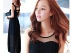 韩国东大门女装印花心自由大摆裙波西米亚雪纺连衣裙淘宝一件代发