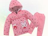 童装一件代发休闲保暖女童套装加厚防寒棉衣女童外出服