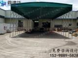 镇江京口订做电动雨棚 伸缩折叠遮阳蓬 仓库推拉篷图纸