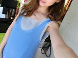 2015夏季薄款韩国东大门吊带背心 女中长款宽松v领针织两件套