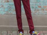 2015秋季新款情侣运动卫裤女裤 韩版薄款小脚显瘦女式长裤女卫裤