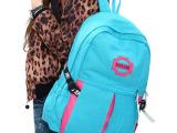 一件代发时尚情侣双肩背包休闲帆布旅游背包彩色大高中学生书包
