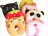 可爱卡通颈枕 草莓U型枕 熊猫U型枕 卡通颈枕 汽车颈枕