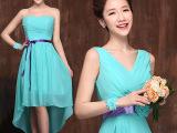蒂芙尼蓝伴娘团礼服短款小礼服新娘结婚礼服演出服雪纺裙姐妹裙