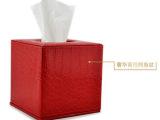 厂家直销 纸巾盒批发 时尚欧美皮革卷纸纸巾盒 鳄鱼纹pu皮纸巾盒