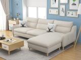 全新现代简约全实木布艺L型组合沙发 厂家直销 中山可比优居