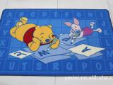 卡通地垫、门垫 正品迪士尼尼龙儿童防滑地毯 维尼 80*120c