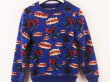 儿童毛衣糖果色宝宝毛衣加绒加厚男童针织衫女童套头打底衫批发