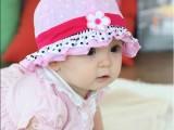 新款女宝宝儿童盆帽梅花圆点盆帽儿童帽子韩版公主帽批发