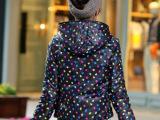 2014韩版两面穿短款羽绒服 圆点学生女式外套反季厂家批发