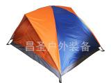供应户外野营露营帐篷 双人双层拼色帐篷 批发零售