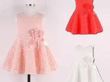 2015欧美 夏季童裙 外贸原单蕾丝女童连衣裙 外贸童装