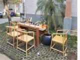 樟木老石板禅意茶桌新中式创意循环水茶艺桌实木茶几
