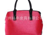 2014新款时尚品牌女包 亮面漆皮手提包定型包铆钉包包 厂家直销
