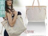 广州批发女包  购物欧美品牌包 明星款格子 单肩包N51107