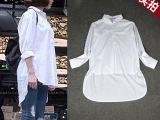 2015明星同款女装中长款宽松大码休闲衬衫淘宝微信代理厂家货源