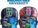 迪士尼原单正品怪兽大学书包可爱卡通大眼仔学生书包双肩减负背包