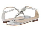 支持验货大牌 外贸原单软羊皮 平底带钻夹趾罗马凉鞋女式凉鞋显白