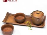 日式陶瓷紫砂功夫茶具套装特价复古粗陶手抓壶泡茶器旅行干泡茶盘