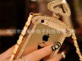 新款小黑裙IPHONE5 贴钻香水瓶手机壳 苹果5手机保护套 一