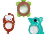 塑料赠品小玩具儿童卡通放大镜可挂吊淘宝热销三款混装现货批发