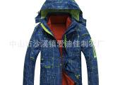 厂家供应欧美贴牌冬季男女两件套款冲锋衣