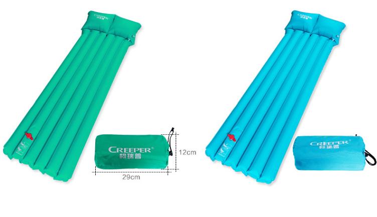 供应 柯瑞普 正品脚踏式充气垫 野营防潮垫