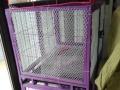 低价转让9成新双层子母方管笼95厘米长宠物笼