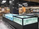 长沙海鲜池设备哪里 至诚合作 超市生鲜鱼池