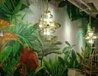 新元素墙绘(手绘餐厅背景墙,彩绘墙壁画,美丽乡村文化墙)