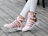 欧美最新款真皮平底平跟时尚舒适女凉鞋上脚超美头层牛皮女鞋