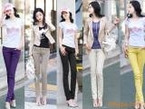 供应特价 韩版新款超百搭时尚彩色小脚牛仔铅笔裤