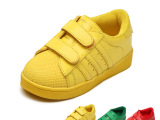 新款上架 彩色经典贝壳头儿童运动鞋 纯色阿迪爆款童鞋 厂家直销