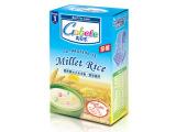 高贝乐 婴幼儿天然谷物辅食系列 麦芽高钙营养蒸谷小米奶米粉一段