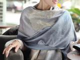 2014春夏新品民族风双色浪漫棉料提花流苏女士围巾空调披肩两用
