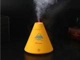 火山加湿器 迷你加湿器 呼吸夜灯 USB接口 空气净化加