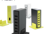 ROCK 6口智能USB充电器 多口USB充电器 万能旅行USB多口充电器