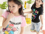 童装上衣中大童卡通圆领潮韩版儿童短袖T恤