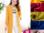 秋冬女装羊绒面料 大衣呢双面羊绒面料 橙黄色高档顺毛呢毛纺布料