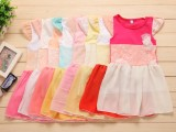 新款夏女童夏装童装短袖儿童公主裙子