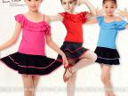 KD1232舞妃扬 单肩儿童吊带舞蹈服 拉丁舞裙 舞蹈服套装 厂家批发
