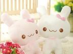 批发 可爱天使兔momo兔子 毛绒玩具 萌萌兔毛绒抱枕靠垫