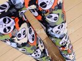 春夏新款韩版欧美涂鸦大爱熊猫牛奶丝九分打底裤批发 显瘦打底裤