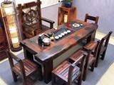 老船木茶桌椅组合小茶艺桌 实木仿古功夫喝茶桌古船木茶台泡茶桌