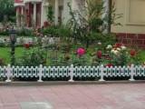 厂家供应四川阿坝州小区别墅塑钢草坪绿化栏杆栅栏