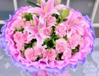 重庆花店情人节订花爱情花束 高档鲜花礼盒免费送花