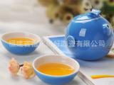 蝴蝶壶快客杯 便携式旅行茶具 陶瓷功夫茶具套装  1壶2杯