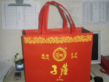120g大红色无纺布手提袋无纺布广告宣传袋成都无纺布袋厂家
