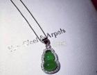 绿色玉髓葫芦项链