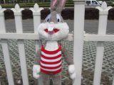 精品高档毛线衣兔八哥 毛绒玩具 小兔子 卡通公仔 情人节礼物